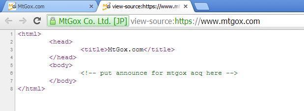 Πηγαίος κώδικας της ιστοσελίδας mtgox.com (25/02/2014)